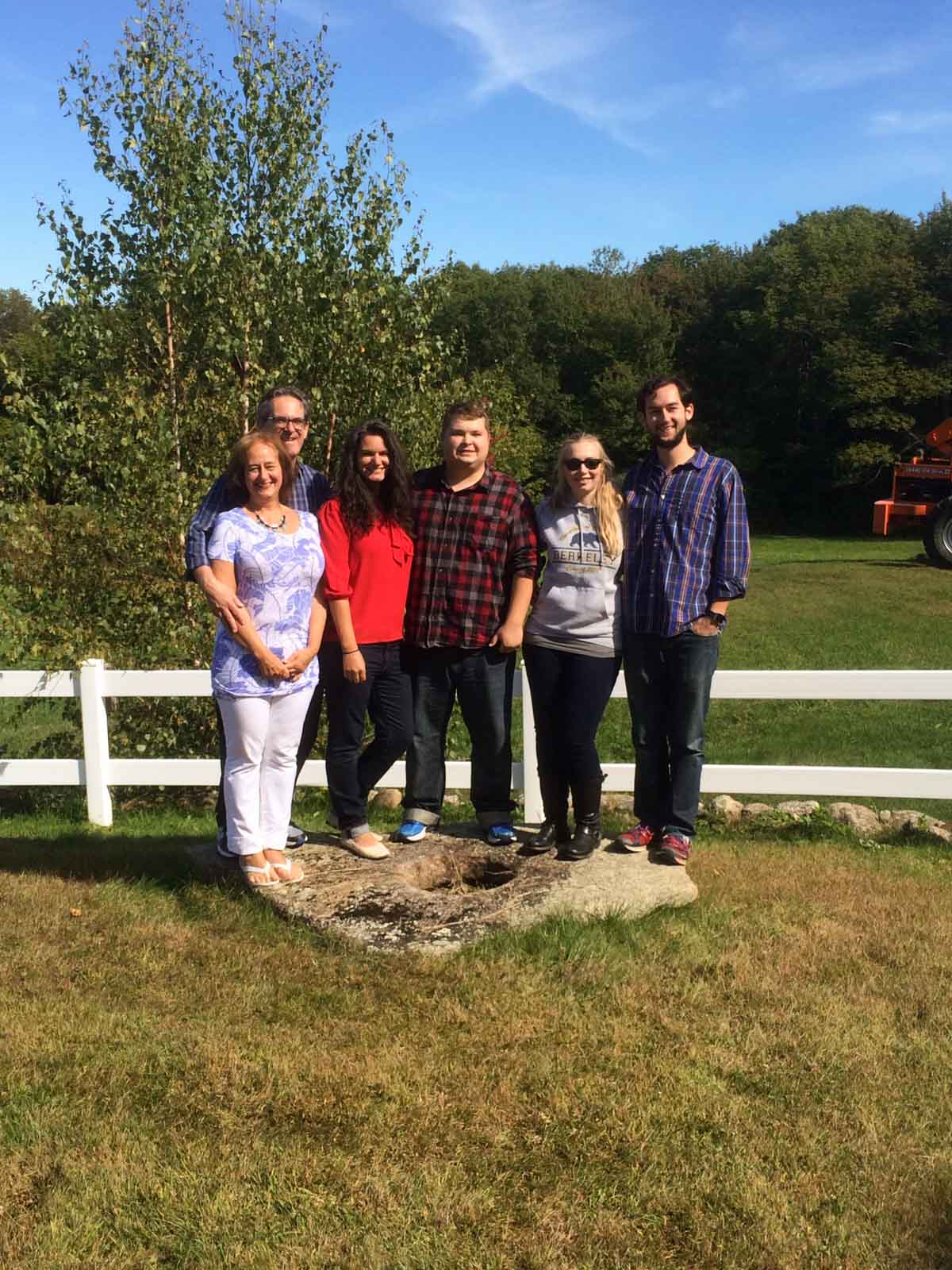 Familiy New Hampshire Apple Picking