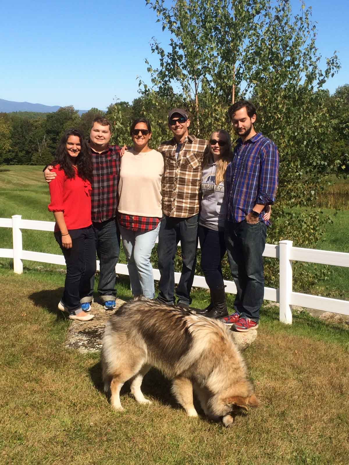 New Hampshire Apple Picking with friends
